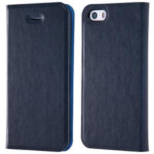 iPhoneSE / iPhone5s ケース Ray Out レイアウト iPhone SE / 5s / 5 手帳型ケース マグネットタイプ ネイビー RT-P11SLC3/N ネコポス送料無料|ec-kitcut