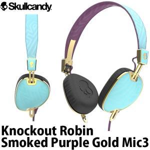 マイク付き ヘッドホン Skullcandy スカルキャンディー Knockout Robin / Smoked Purple / Gold Mic3 J5AVGM-396 ネコポス不可|ec-kitcut