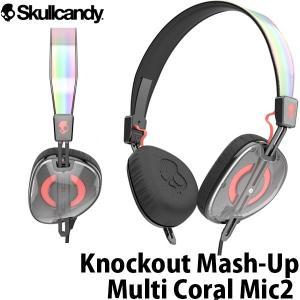 マイク付き ヘッドホン Skullcandy スカルキャンディー Knockout Mash-Up / Multi / Coral Mic2 J5AVHX-461 ネコポス不可|ec-kitcut