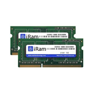 iMac用メモリ iRam アイラム PC3-14900 DDR3-1866 SO.DIMM 16GB  8GB x 2枚組  IR8GSO1866D3/2 ネコポス不可|ec-kitcut