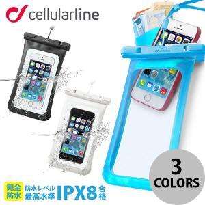 iPhone汎用 ケース cellularline New Voyager スマホ 防水ケース セルラーライン ネコポス不可  iPhone 6s / 6s Plus / SE / 5s / iPod ec-kitcut