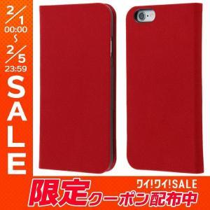 iPhone6s ケース Ray Out レイアウト iPhone 6 / 6s 手帳型ケース ファブリック ラムース使用 レッド RT-P9FBC3/R ネコポス送料無料|ec-kitcut