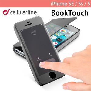 iPhoneSE / iPhone5s ケース cellularline セルラーライン BookTouch iPhone SE / 5s / 5 ケース BOOKTOUCHIPH5K ネコポス可|ec-kitcut