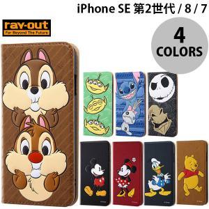iPhone SE2 8 7 ケース Ray Out iPhone SE 第2世代 / 8 / 7 ディズニー 手帳ケース レイアウト ネコポス送料無料|ec-kitcut
