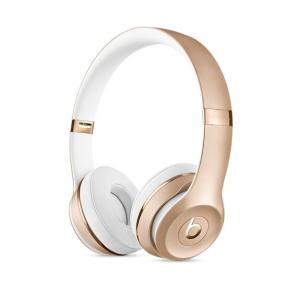 ヘッドホン本体 【New】 beats by dr.dre ビーツ バイ ドクタードレー Solo3 Wirelessオンイヤーヘッドフォン - ゴールド MNER2PA/A ネコポス不可