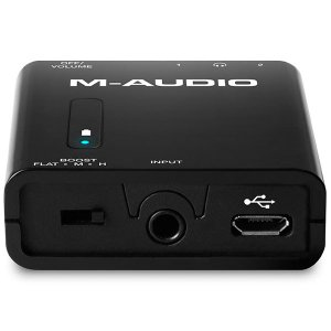M-AUDIO Bass Traveler ポータブルヘッドホンアンプ Portable Headphone Amplifier with Dual Outputs and 2-Level Boost ネコポス不可|ec-kitcut