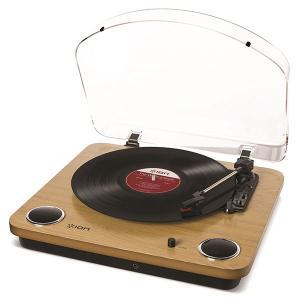 レコードプレーヤー ION Audio アイオンオーディオ Max LP スピーカー内蔵 レコードプレーヤー ウッド調 IA-TTS-013 ネコポス不可|ec-kitcut