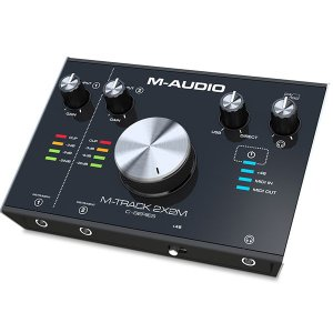 M-AUDIO エムオーディオ M-TRACK 2x2M USB オーディオ / MIDIインターフェース 2-In/2-Out 24/192 USB Audio/MIDI Interface MA-REC-011 ネコポス不可|ec-kitcut