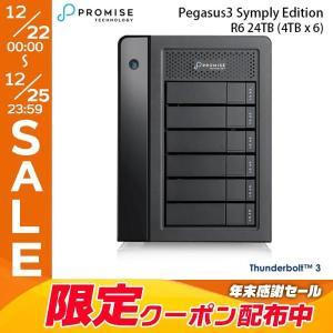 Promise プロミス テクノロジー Pegasus3 R6 24TB 4TBx6 Symply Edition Thunderbolt3 RAID System HKWZ2PA/A ネコポス不可|ec-kitcut