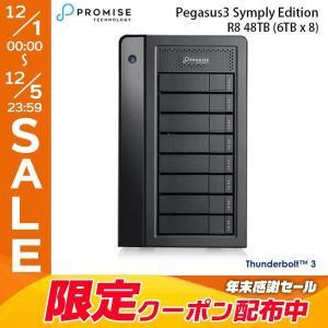 Promise プロミス テクノロジー Pegasus3 R8 48TB 6TBx8 Symply Edition Thunderbolt3 RAID System HKX02PA/A ヤマト便配送|ec-kitcut