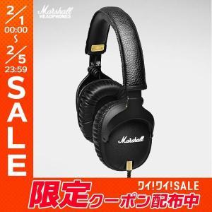 Marshall Headphones マーシャル ヘッドホンズ MONITOR ヘッドフォン with MIC & REMOTE Black ZMH-04090800 ネコポス不可 国内正規品|ec-kitcut
