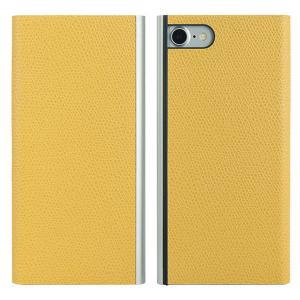 iPhone8 / iPhone7 スマホケース PowerSupport パワーサポート iPhone 8 / 7 Flip Jacket フリップジャケット本牛革型押し イエロー PBL-30 ネコポス送料無料 ec-kitcut