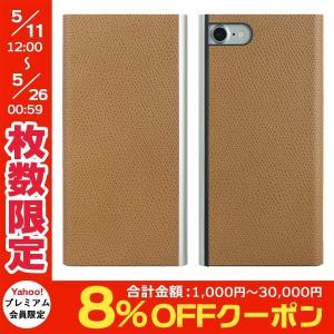 iPhone8 / iPhone7 スマホケース PowerSupport パワーサポート iPhone 8 / 7 Flip Jacket フリップジャケット本牛革型押し キャメル PBL-34 ネコポス送料無料 ec-kitcut