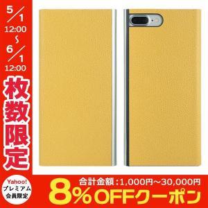 PowerSupport パワーサポート iPhone 8 Plus / 7 Plus Flip Jacket フリップジャケット 本牛革型押し イエロー PBM-30 ネコポス送料無料 ec-kitcut