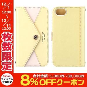 PGA ピージーエー iPhone SE 第2世代 / 8 / 7 / 6s / 6 フリップカバー 三角模様カードポケット for girls イエロー PG-16MFP59YE ネコポス不可|ec-kitcut