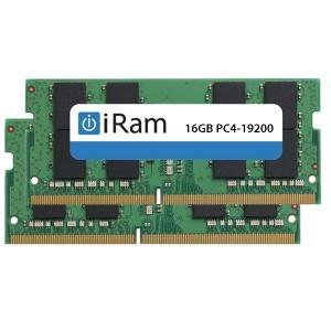 iMac用メモリ iRam アイラム PC4-19200 DDR4 2400MHz SO.DIMM 32GB 2x16GB IR16GSO2400D4W ネコポス不可|ec-kitcut