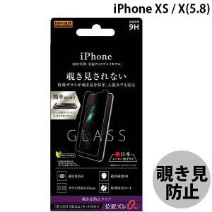 iPhoneX ガラスフィルム Ray Out レイアウト iPhone XS / X ガラス 9H 180°覗き見防止 貼付けキット付 0.33mm RT-P16FG/PK ネコポス可|ec-kitcut