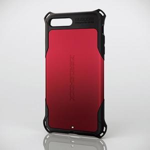iPhone8Plus/ iPhone7Plus ケース エレコム ELECOM iPhone 8 Plus / 7 Plus 用 ZEROSHOCK スタンダード レッド PM-A17LZERORD ネコポス可|ec-kitcut