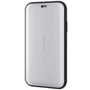 iPhoneXS / iPhoneX ケース エレコム ELECOM iPhone XS / X 用 TOUGH SLIM シェルフラップ ホワイト PM-A17XTSSWH ネコポス不可|ec-kitcut