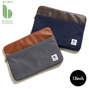 MacBook Pro Air Retina 13インチ ケース BIMO Melton Notebook Zip Case for 13inch ビモ ネコポス不可|ec-kitcut