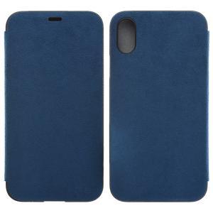 iPhoneX ケース PowerSupport パワーサポート iPhone X Ultrasuede Flip case ウルトラスエード フリップケース Blue PGK-91 ネコポス送料無料 ec-kitcut