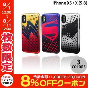 iPhoneXS / iPhoneX ケース GRAMAS iPhone XS / X COLORS Hybrid Case with Justice League グラマス ネコポス送料無料|ec-kitcut
