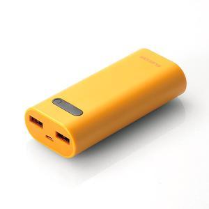 モバイルバッテリー エレコム ELECOM Niibu Plus おまかせ充電対応 モバイルバッテリー 6400mAh マスタード DE-M01L-6400YL ネコポス不可|ec-kitcut