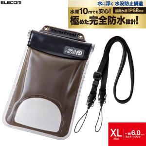 iPhone 防水ケース汎用 エレコム ELECOM スマートフォン用防水・防塵ケース 水没防止タイプ XL ブラック P-WPSF03BK ネコポス不可|ec-kitcut