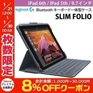 iPad6th / iPad5th キーボードケース LOGICOOL ロジクール 9.7インチ iPad 6th / iPad 5th SLIM FOLIO Bluetooth キーボード?体型ケース iK1053BK ネコポス不可|ec-kitcut