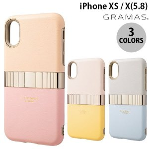 iPhoneXS / iPhoneX ケース GRAMAS iPhone XS / X Rel Hybrid Shell Case  グラマス ネコポス不可|ec-kitcut