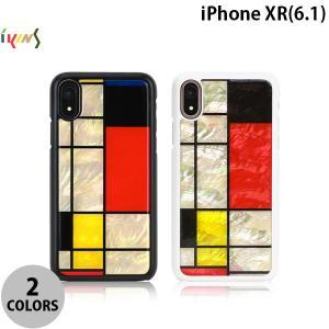 iPhoneXR ケース Ikins iPhone XR 天然貝ケース Mondrian  アイキンス ネコポス送料無料|ec-kitcut