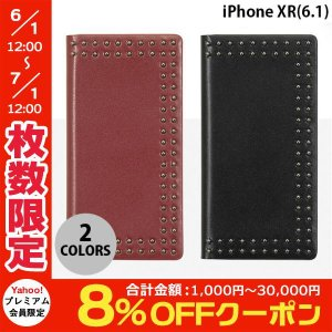 iPhoneXR ケース Eblouir iPhone XR Dot Studs Diary  エブルイ ネコポス不可|ec-kitcut