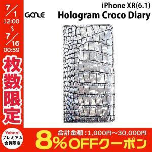 iPhoneXR ケース GAZE ゲイズ iPhone XR Hologram Croco Diary GZ13487i61 ネコポス不可|ec-kitcut