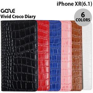 iPhoneXR ケース GAZE iPhone XR Vivid Croco Diary  ゲイズ ネコポス不可|ec-kitcut