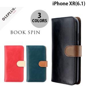 iPhoneXR ケース LEPLUS iPhone XR PUレザーベルト回転ブックケース BOOK SPIN  ルプラス ネコポス送料無料|ec-kitcut