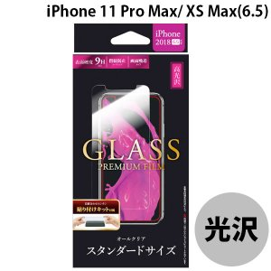 LEPLUS ルプラス iPhone XS Max ガラスフィルム スタンダードサイズ 高光沢/0.33mm GLASS PREMIUM FILM LP-IPLFG ネコポス可|ec-kitcut
