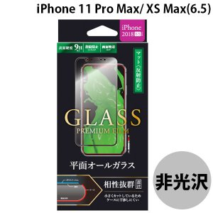 LEPLUS ルプラス iPhone XS Max ガラスフィルム 平面オールガラス ブラック/マット・反射防止/0.33mm GLASS PREMIUM FILM LP-IPLFGFMBK ネコポス送料無料|ec-kitcut