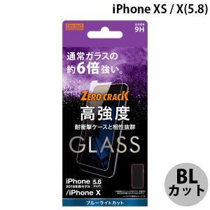 Ray Out レイアウト iPhone 11 Pro / XS / X ガラスフィルム 9H アルミノシリケート BLカット 0.33mm RT-P20FA/MG ネコポス可|ec-kitcut