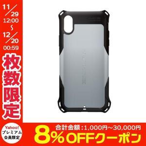 iPhoneXS / iPhoneX ケース エレコム ELECOM iPhone XS / X ZEROSHOCK スタンダード シルバー PM-A18BZEROSV ネコポス可|ec-kitcut