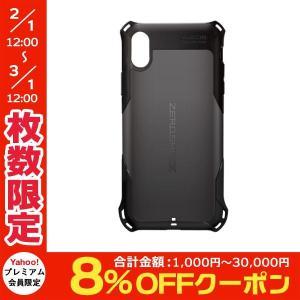 iPhoneXS / iPhoneX ケース エレコム ELECOM iPhone XS / X ZEROSHOCK スタンダード ブラック PM-A18BZEROBK ネコポス送料無料|ec-kitcut