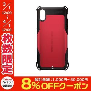 iPhoneXS / iPhoneX ケース エレコム ELECOM iPhone XS / X ZEROSHOCK スタンダード レッド PM-A18BZERORD ネコポス送料無料|ec-kitcut