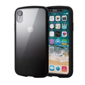 iPhoneXR ケース エレコム ELECOM iPhone XR TOUGH SLIM LITE クリア ネイビーxグレー PM-A18CTSLCG4 ネコポス可 ec-kitcut