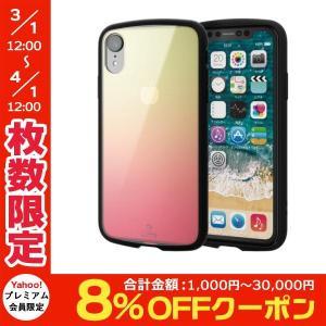 iPhoneXR ケース エレコム ELECOM iPhone XR TOUGH SLIM LITE クリア ピンクxイエロー PM-A18CTSLCG2 ネコポス可|ec-kitcut