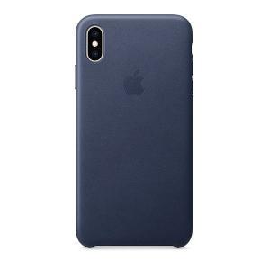 iPhoneXSMax ケース Apple アップル iPhone XS Max レザーケース - ミッドナイトブルー MRWU2FE/A ネコポス可|ec-kitcut