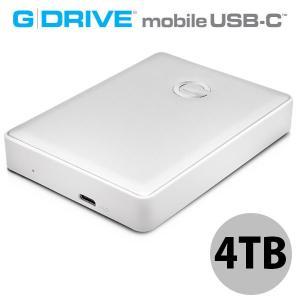 G-Technology ジーテクノロジー 4TB G-DRIVE mobile USB-C WW v2 ポータブルハードディスク シルバー 0G10348 ネコポス不可|ec-kitcut