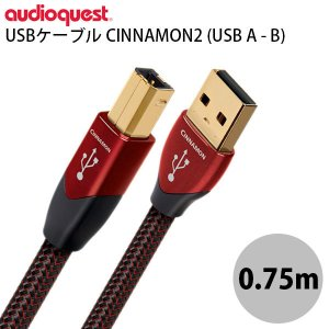 audioquest オーディオクエスト ハイクオリティ オーディオ USBケーブル CINNAMON2 USB A - B 0.75m USB2/CIN/0.75M ネコポス不可|ec-kitcut