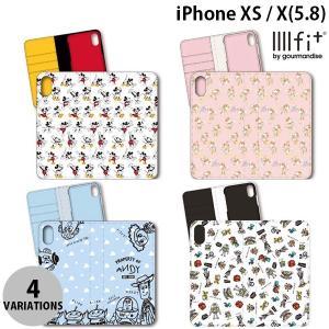 iPhoneXS / iPhoneX ケース gourmandise iPhone XS / X フリップカバー ディズニー  グルマンディーズ ネコポス送料無料|ec-kitcut