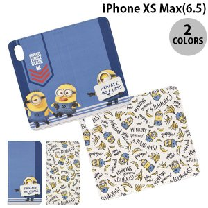 iPhoneXSMax ケース gourmandise iPhone XS Max フリップカバー 怪盗グルー ミニオン  グルマンディーズ ネコポス可|ec-kitcut