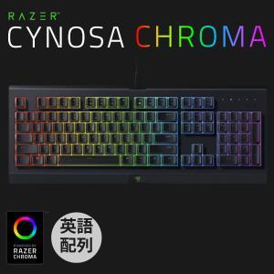ゲーミングキーボード Razer レーザー Cynosa Cnroma 英語配列 有線 ソフトクッション式 ゲーミングキーボード RZ03-02260100-R3M1 ネコポス不可|ec-kitcut