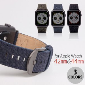Apple Watch バンド SLG Design Apple Watch バンド 42mm / 44mm用 Wax Canvas エスエルジー デザイン ネコポス送料無料 ec-kitcut